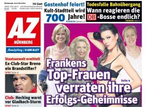 Claudia Pinkert das Sitwell Modell - Abendzeitung Seite 1 - 24.09.2011