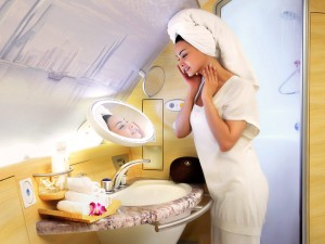 Emirates A380 Shower Spa