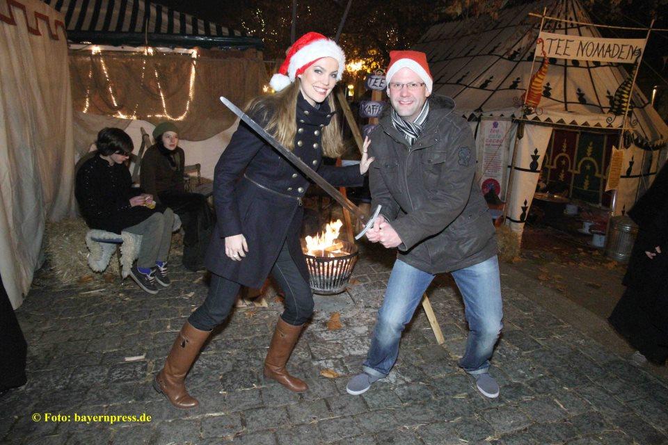 Claudia Pinkert mit Jens Urban: Ritter spielen