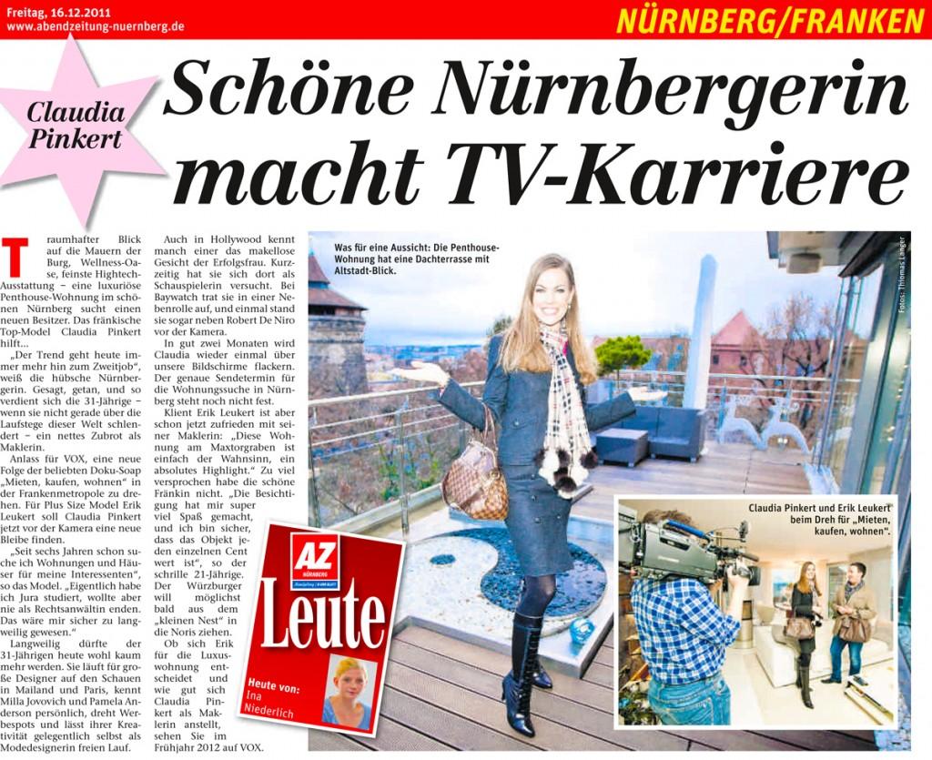 Claudia Pinkert TV Abendzeitung S5