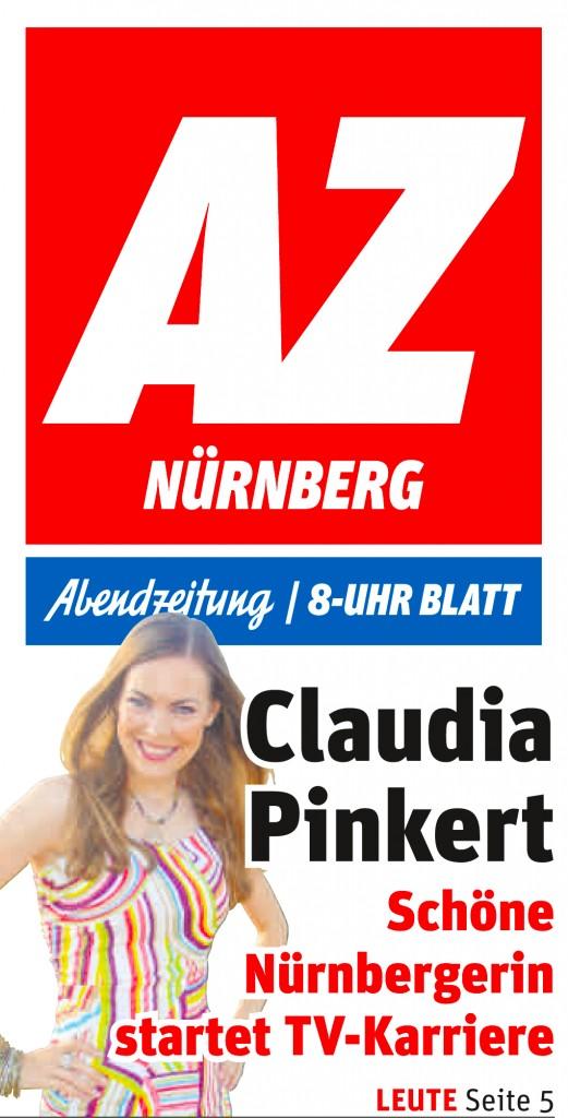 Claudia Pinkert im TV Abendzeitung Titel