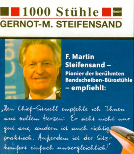 F-Martin Steifensand empfiehlt Chief Sitwell