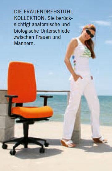 Frauendrehstuhl mit Claudia Pinkert