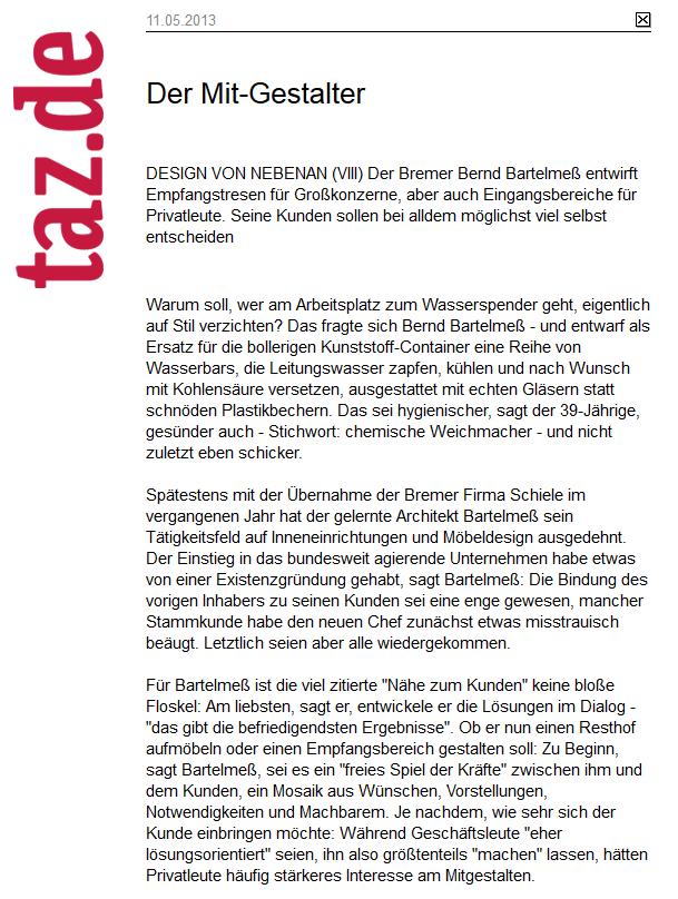 Der Mit-Gestalter Bernd Bartelmeß