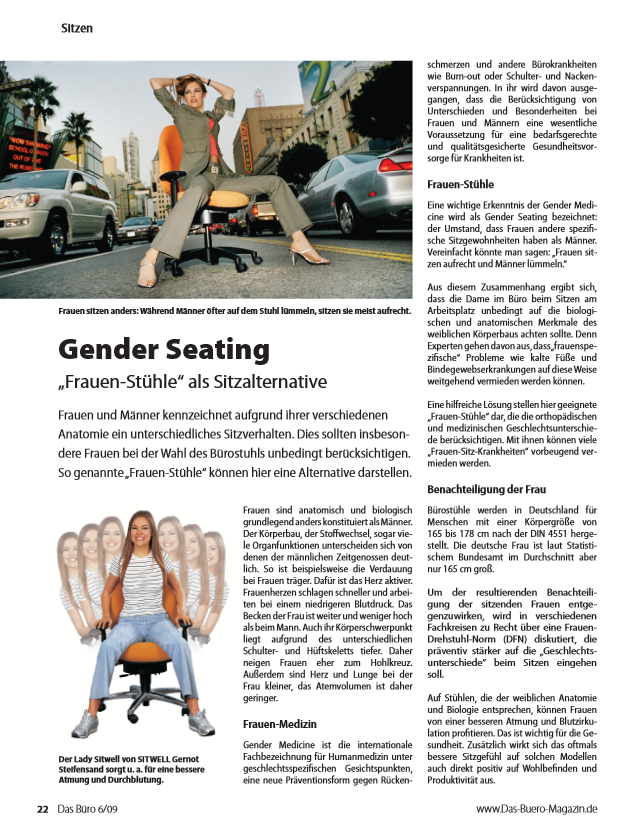 Frauenstuhl - Gender Seating by Sitwell Gernot Steifensand