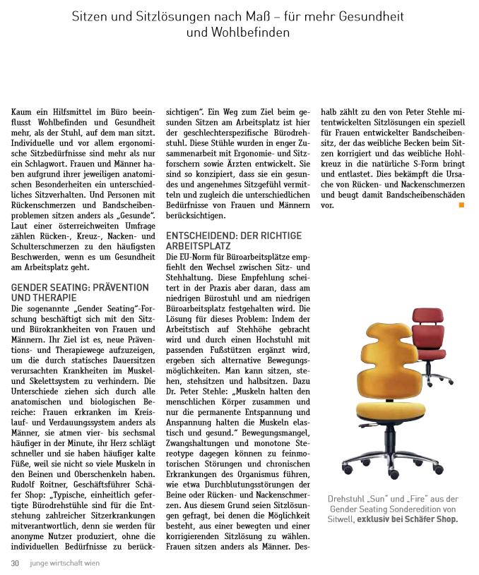 WKO Wien - Besser und gesünder Sitzen