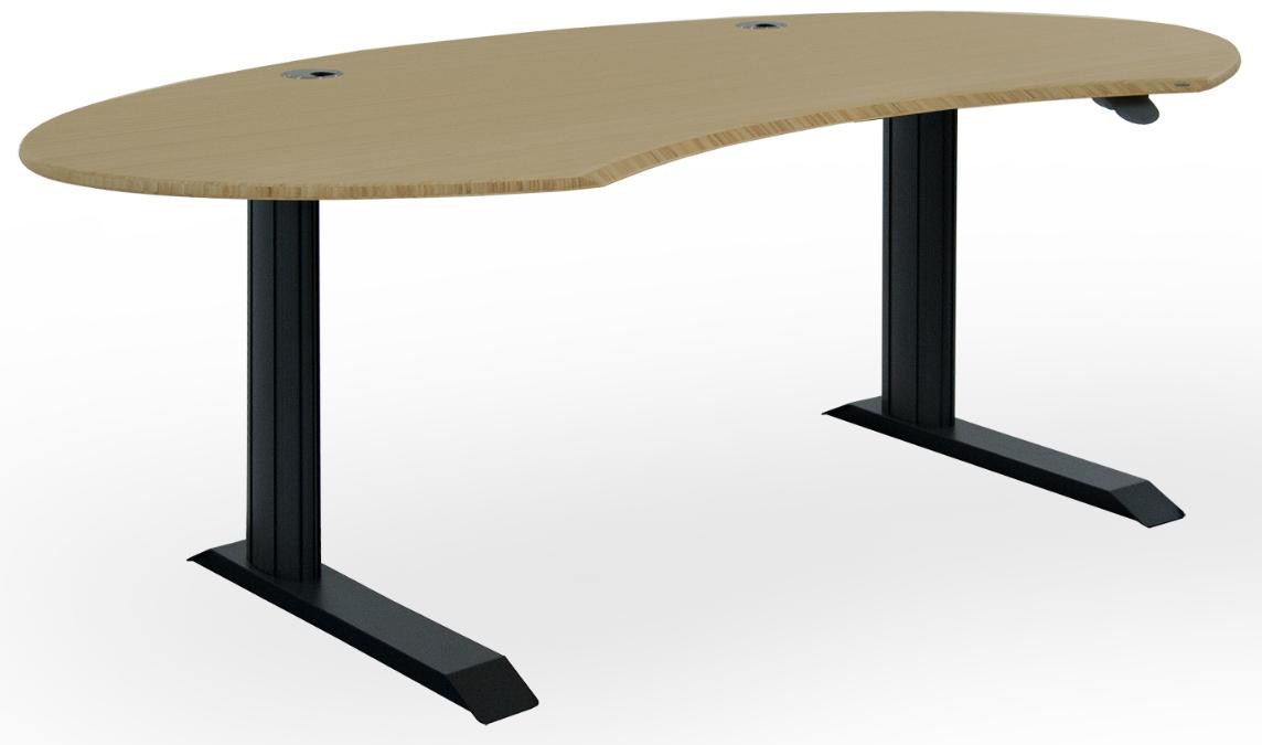 ergonomischer Bambus Tisch by Leuwico