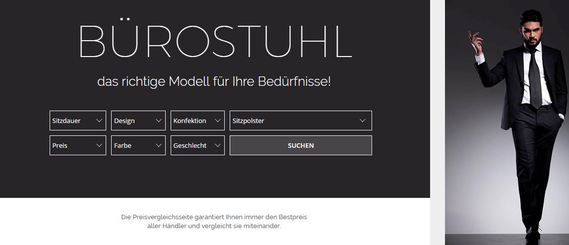 Steifensand-Bürostuhl-Suchplattform